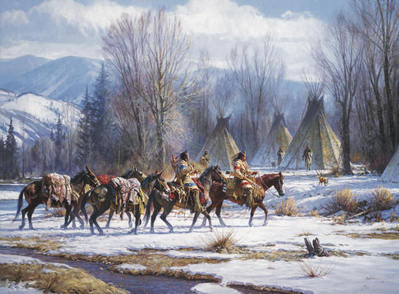 Camp Meat And Mules- Signed By The Artist – CanvasGiclee – Limited Edition – 15A/P – 32x45 –