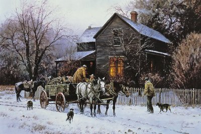 Wagonload Of Warmth- Signed By The Artist – CanvasLithograph – Limited Edition – 395S/N – 20x30