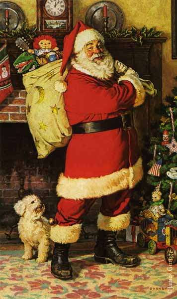 Santa Claus- Signed By The Artist – PaperLithograph – Limited Edition – 2000S/N – 18 1/2x12