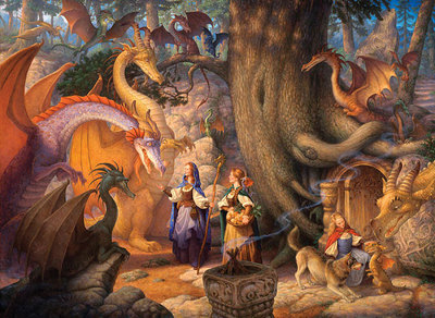 A Confabulation Of Dragons- Signed By The Artist								 – Canvas Giclee – Limited Edition – 75 S/N – 26 x 19