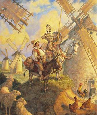 Don Quixote- Signed By The Artist								 – Paper Lithograph – Limited Edition – 950 S/N – 26 x 22