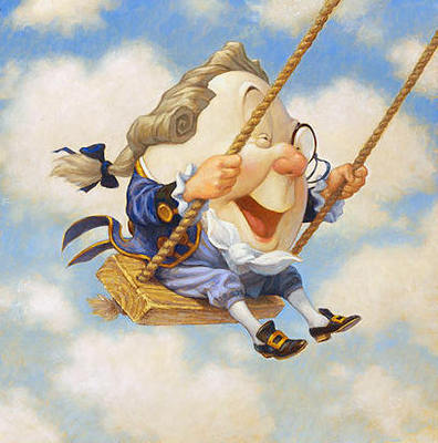 Humpty Dumpty Sat On A Swing- Signed By The Artist								 – Canvas Giclee – Limited Edition – 100 S/N – 10 x 10