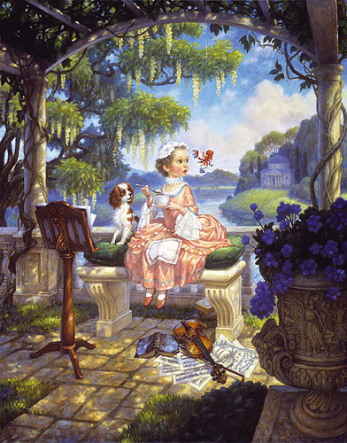 Little Miss Muffet- Signed By The Artist – PaperLithograph – Limited Edition – 950S/N – 17x14 1/8
