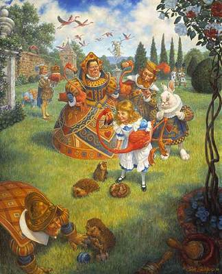 The Queen's Croquet-Ground- Signed By The Artist – PaperLithograph – Limited Edition – 950S/N – 17x14 1/4