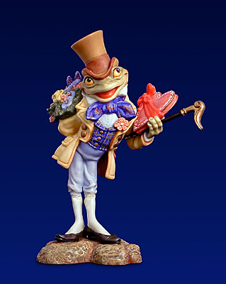 Froggy Goes A-Wooing- SculpturePorcelain – Limited Edition – 2500Limited – 51/2″ High