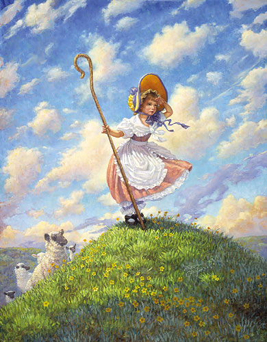 Little Bo Peep- Signed By The Artist – PaperLithograph – Limited Edition – 950S/N – 17x14 1/4