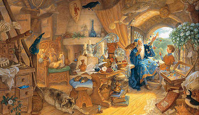 Merlin And Arthur- Signed By The Artist – CanvasLithograph – Limited Edition – 15A/P – 22x37
