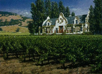 Chimney Rock Winery- Signed By The Artist – PaperLithograph  – Limited Edition  – 950S/N  –  22x28
