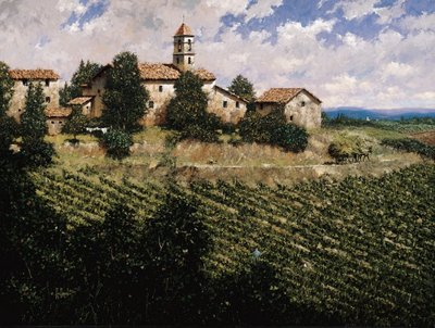 Tuscan Sun- Signed By The Artist – CanvasGiclee  – Limited Edition  – 95S/N  –  18x24