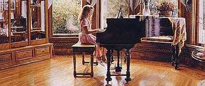 The Music Room- Signed By The Artist – PaperLithograph – Limited Edition – 1500S/N – 13 1/2x31 3/4