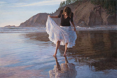 Reflecting On Indian Beach- Signed By The Artist – PaperGiclee – Limited Edition – 75S/N – 20x30