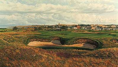 The Old Course (St. Andrews) – 14th Hole- Signed By The Artist								 – Paper Lithograph – Limited Edition – 850 S/N – 15 3/8 x 27