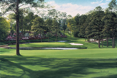 "The 15th Hole ""Firethorn"", Augusta National- Signed By The Artist								 – Paper Lithograph – Limited Edition – 850 S/N – 17 5/8 x 26"