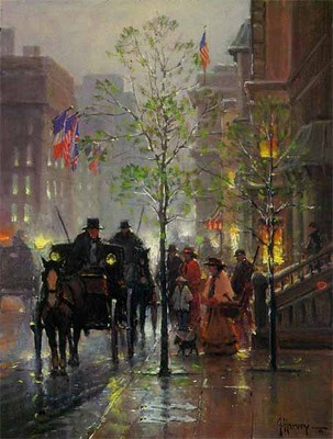 Along Park Avenue- Signed By The Artist								 – Paper Giclee – Limited Edition – 750 S/N – 12 x 9