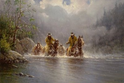 Boot Top Crossing- Signed By The Artist								 – Canvas Giclee – Limited Edition – 250 S/N – 24 x 36
