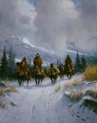 Bundled, Blessed And Headin' West- Signed By The Artist								 – Canvas Giclee – Limited Edition – 250 S/N – 30 x 24