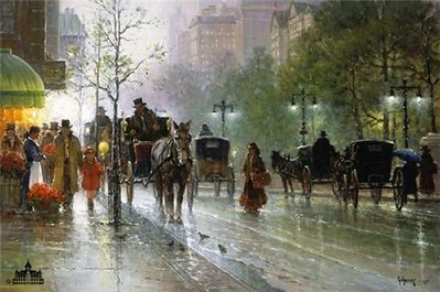 Cabbies On Fifth Avenue- Signed By The Artist – PaperLithograph – Limited Edition – 1950S/N – 20x30