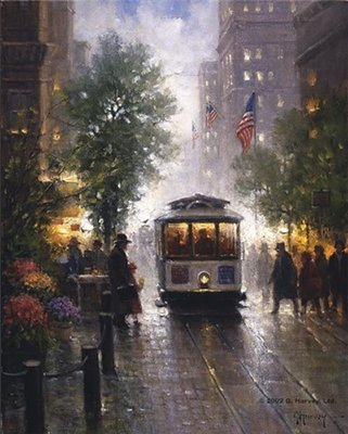 California Cable Cars – San Francisco- Signed By The Artist – CanvasLithograph – Limited Edition – 950S/N – 12x9