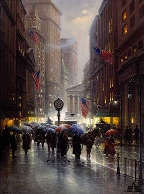 Canyon Of Dreams – Wall Street- Signed By The Artist – CanvasLithograph – Limited Edition – 750S/N – 28x22 –