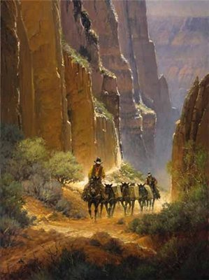 Canyon Trails- Signed By The Artist								 – Paper Serigraph – Limited Edition – 550 S/N – 34 3/4 x 26