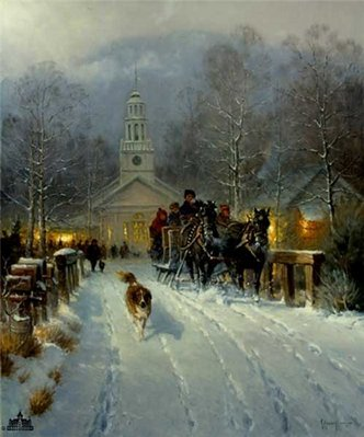 Christmas In The Village- Signed By The Artist								 – Paper Lithograph – Limited Edition – 10222 S/N – 21 1/2 x 18