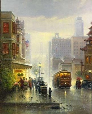 City By The Bay – San Francisco- Signed By The Artist – PaperLithograph – Limited Edition – 1250S/N – 23 3/4x20