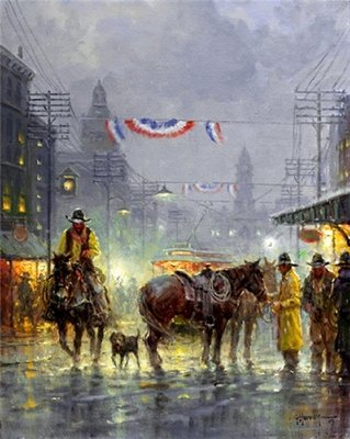 Cowtown Drfter- Signed By The Artist								 – Canvas Giclee 								 – Limited Edition 								 – 95 S/N 								 –  								20 x 16
