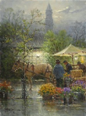 Early Boston Market- Signed By The Artist								 – Canvas Giclee – Limited Edition – 95 S/N – 16 x 12