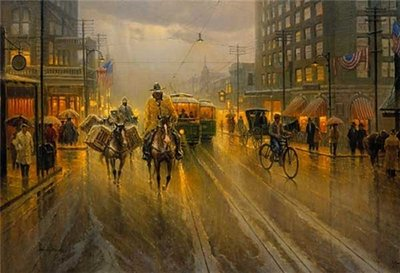 Early Downtown Houston- Signed By The Artist – PaperLithograph – Limited Edition – 1250S/N – 18x27