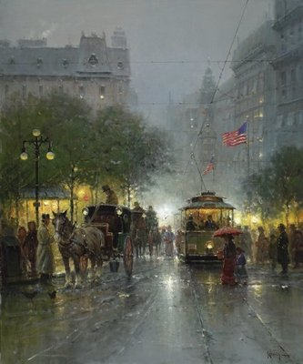 Evening On Broadway- Signed By The Artist – CanvasGiclee – Limited Edition – 250S/N – 36x30