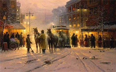 Evening On The Boulevard- Signed By The Artist – PaperSerigraph – Limited Edition – 550S/N – 24x38