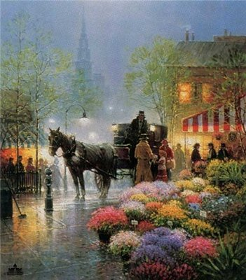 Flower Market- Signed By The Artist – PaperSerigraph – Limited Edition – 550S/N – 31x26