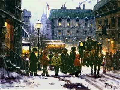 Fresh Snow In The City- Signed By The Artist								 – Paper Lithograph – Limited Edition – 1950 S/N – 12 x 16