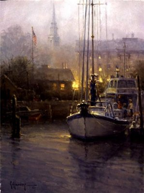 Harbor Mist- Signed By The Artist								 – Canvas Lithograph – Limited Edition – 950 S/N – 12 x 9