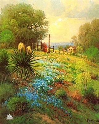 Hill Country Spring- Signed By The Artist								 – Paper Lithograph – Limited Edition – 1250 S/N – 25 x 20 –