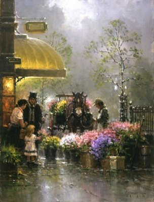 Holiday Flower Shop- Signed By The Artist								 – Canvas Giclee – Limited Edition – 750 S/N – 16 x 12