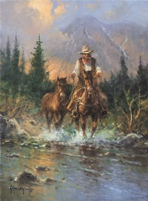 The Horse Trader- Signed By The Artist – CanvasGiclee – Limited Edition – 95S/N – 16x12