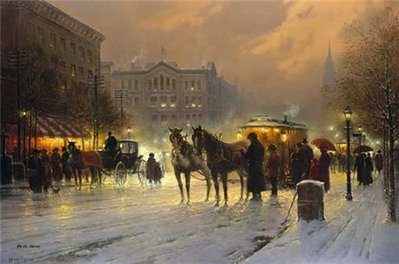 Horse Trolley On Park Row- Signed By The Artist – PaperLithograph – Limited Edition – 1500S/N – 20x30