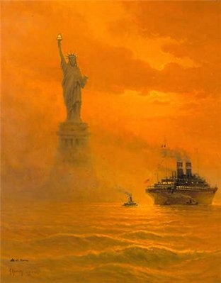 The Lamp Beside The Golden Door- Signed By The Artist – PaperLithograph – Limited Edition – 5000S/N – 22 1/2x18