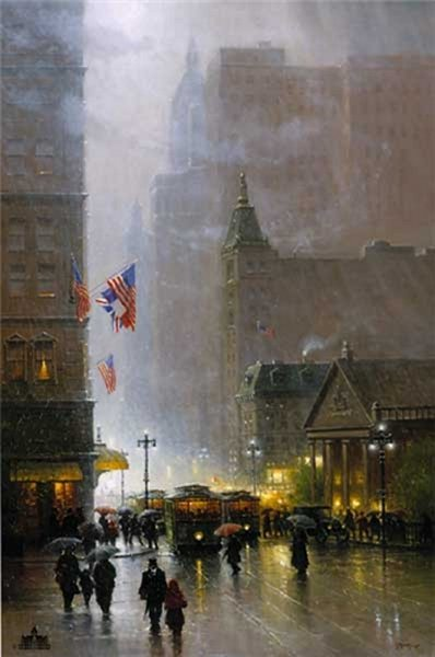 The Lights Of Broadway- Signed By The Artist – CanvasGiclee – Limited Edition – 150S/N – 60x40