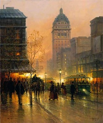 Lights Of San Francisco- Signed By The Artist								 – Paper Serigraph – Limited Edition – 550 S/N – 34 x 28