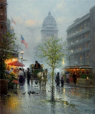 Market Street Trolleys – San Francisco- Signed By The Artist – CanvasGiclee – Limited Edition – 395S/N – 36x30