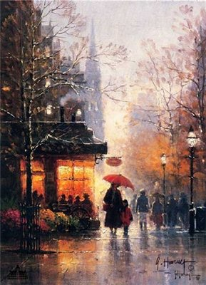 Newbury Street – Boston- Signed By The Artist – CanvasLithograph – Limited Edition – 2500S/N – 8x6
