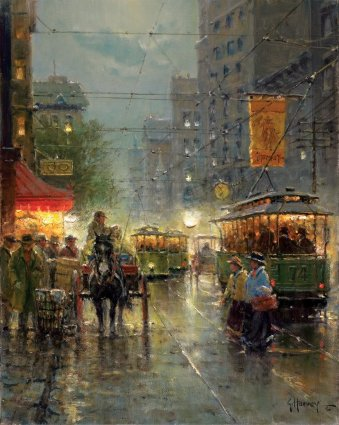 Old Dallas – Main Street- Signed By The Artist – CanvasGiclee – Limited Edition – 350S/N – 20x16