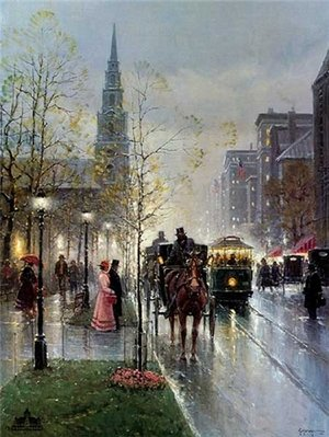 Park Street Church – Boston- Signed By The Artist								 – Paper Lithograph – Limited Edition – 1950 S/N – 27 1/4 x 20