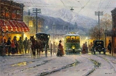 Pikes Peak Trolley- Signed By The Artist – PaperLithograph – Limited Edition – 495S/N – 16x24