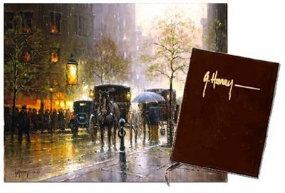 Rainy Day On Central Park South- Signed By The Artist – PaperLithograph – Limited Edition – 1950S/N – 16x20