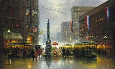 San Francisco, Market Street- Signed By The Artist – PaperLithograph – Limited Edition – 2250S/N – 17x34
