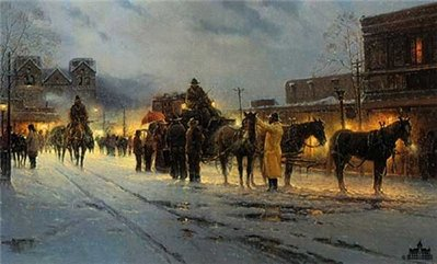 Sante Fe – End Of The Trail- Signed By The Artist – PaperLithograph – Limited Edition – 1250S/N – 19 1/2x32 1/2