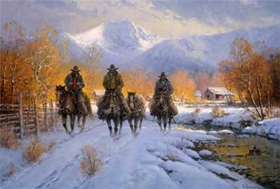 Snowy Crossing- Signed By The Artist – PaperLithograph – Limited Edition – 1500S/N – 20x30